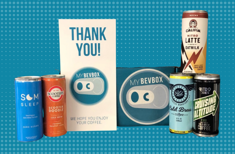 Five canned coffee drinks from around the country, from MyBevBox.
